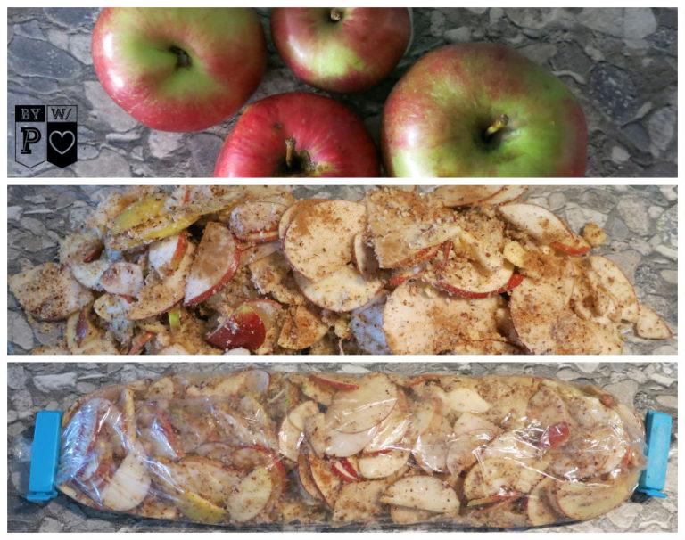 Life Hack: Fülle für Apfelstrudel einfrieren