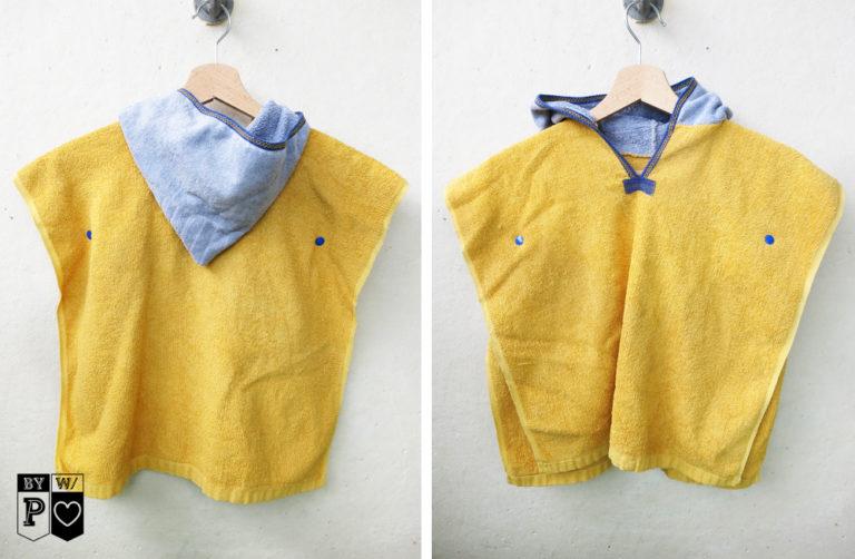Kinder Handtuch-Poncho aus Omas Handtüchern