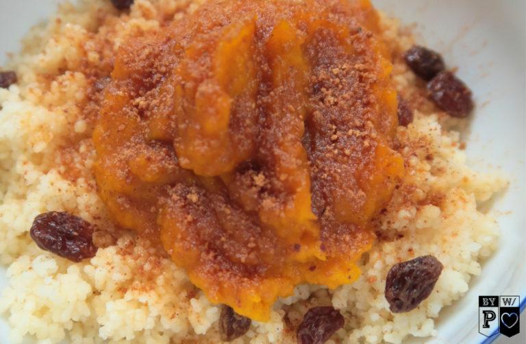 Herbstliches Frühstück – Kürbismus mit Couscous